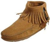 Minnetonka Women's Concho/Feather Side Zip Boot