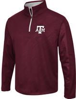 Men's Stadium Texas A & M Aggies College Embossed Sleet Quarter-Zip Pullover