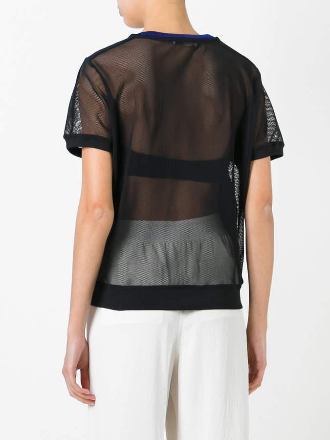 Monreal London mesh Sweat T-shirt