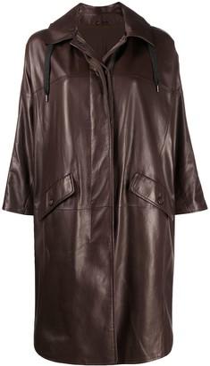Brunello Cucinelli Oversized Leather Coat