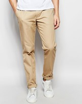 Lacoste Chinos In Tan Slim Fit