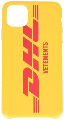Vetements DHL logo print iPhone 11 Pro case
