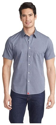 UNTUCKit Wrinkle-Free Short Sleeve Shirt (Navy) Men's Long Sleeve Button Up