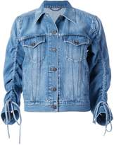 Kenzo gathered sleeve denim jacket