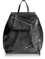 Marc Jacobs Black Leather Zip Pack Backpack