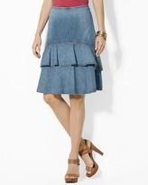 Lauren Ralph Lauren Ruffled Denim Skirt