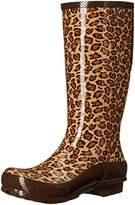 Crocs Women's Leopard Tall Rain Boot