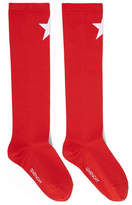 Givenchy Star-intarsia Knitted Socks - Red