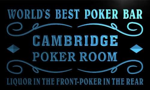 Cambridge Silversmiths AdvPro Name qn2308-b Best Poker Man Cave Room Bar Beer Neon Led Sign