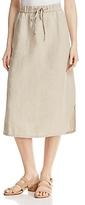 Eileen Fisher Organic Linen Drawstring Skirt