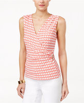 Charter Club Faux-Wrap Top, Only at Macy's