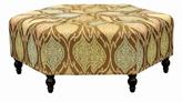 Zara Mosaic Design Fabric Ottoman