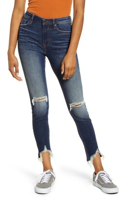 Vigoss Distressed High Waist Ankle Skinny Jeans