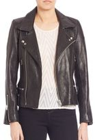 IRO Area Leather Cropped Jacket