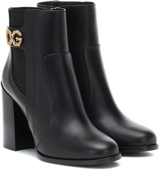 Dolce & Gabbana Rodeo 90 leather ankle boots