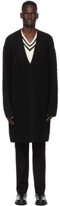 TAKAHIROMIYASHITA TheSoloist. Black Medical Fair Isle V-Neck Sweater