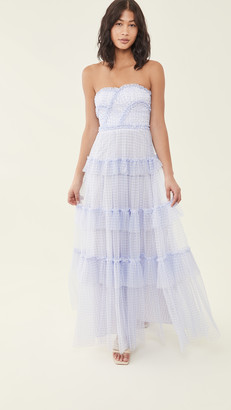 Needle & Thread Caroline Gingham Tulle Gown