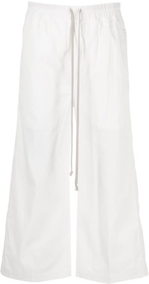 Rick Owens Cropped Wide-Leg Trousers