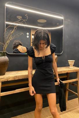 Motel Gaina Tie-Front Mini Dress