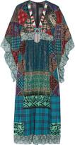 Anna Sui Embellished silk-blend chiffon and cotton maxi dress