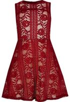 River Island Girls red lace prom dress