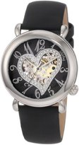 Stuhrling Original Women's 109SW.121B1 Amour Aphrodite Delight Automatic Skeleton Black Leather Watch