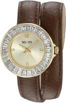 SO & CO New York Women's 5070.2 SoHo Analog Display Quartz Brown Watch