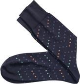Johnston & Murphy Dotted Zigzag Socks