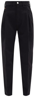 RE/DONE Zoot Inverted-pleat Tapered Jeans - Black