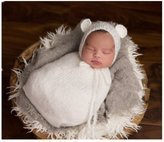 Hobees Fashion Newborn Boy Girl Baby Costume Knitted Photography Props Hat Sleeping Bag