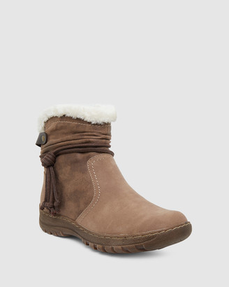 Easy Steps - Women's Grey Flat Ankle Boots - Eskimo - Size One Size, 40 at The Iconic