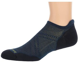 Smartwool PhD(r) Run Light Elite Micro (Alpine Blue) Men's No Show Socks Shoes