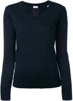 Moncler round neck knitted jumper - women - Virgin Wool - XS