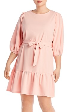 Aqua Curve Puff-Sleeve Dress - 100% Exclusive