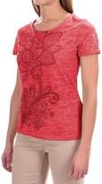 White Sierra Kali Burnout T-Shirt - Short Sleeve (For Women)