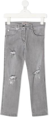 Ermanno Scervino Distressed Details Straight Jeans
