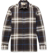 Burberry Checked Cotton-flannel Shirt - Black