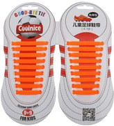 Generic Pair No Tie Elastic Silicone Kids Shoelaces Football Shoes