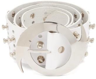 Chopova Lowena Studded Leather Belt - White