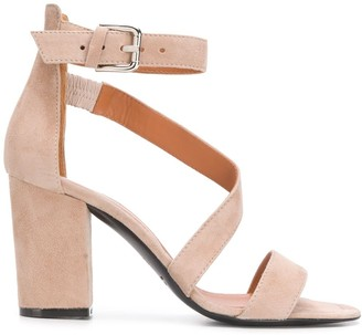 Via Roma 15 Buckled Chunky-Heel Sandals