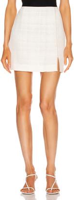 Nanushka Asun Skirt in White   FWRD