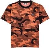 McQ Orange camouflage cotton T-shirt