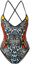 DSQUARED2 animal printed swimsuit - women - Polyamide/Spandex/Elastane - 40