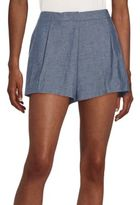 Elle Sasson Rey Highwaisted Chambray Shorts