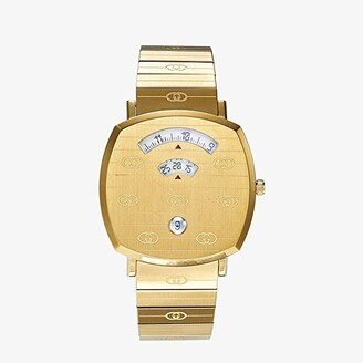 Gucci Grip (Gold Dial/Brown Leather Strap) Watches