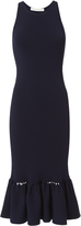 Jonathan Simkhai Slashed Knit Trumpet Hem Dress