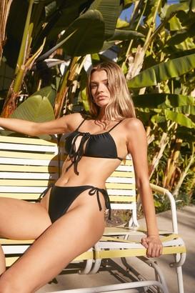 Nasty Gal Womens Endless Summer Tie Cut-Out Bikini Set - Black