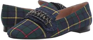 Jack Rogers Beatrix Jeweled Loafer (Midnight Tartan) Women's Shoes
