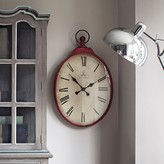 Graham and Green Red Oval Clock
