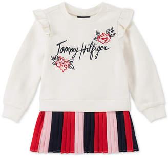Tommy Hilfiger Little Girls Pintucked Fleece Dress